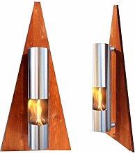 Bio Ethanol Fireplace - Model Pyramid - Brown