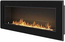 Bio Ethanol Fireplace SimpleFire Frame 1200 Black