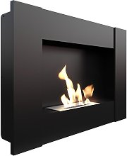 Bioethanol Fireplace with Vertical Frame