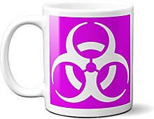 Biohazard Symbol - Purple Background - White Sign