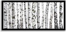 Birch Trees - Framed Print, 49.5 x 104.5cm,