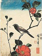 Bird Camellia Branch 1850 Utagawa Hiroshige Large