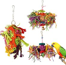 Bird chew toy parrot cage paper shredder toy