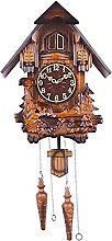 Bird Cuckoo Alarm Clock, Wooden Hand-Carved Cuckoo
