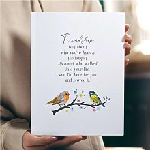 Bird Friendship Poem Wall Art Print | Gift for a