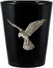 Bird of Prey Black Shot Glass