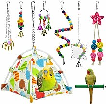 Bird Parrot Toys, Bird nest hut Hanging Habitat