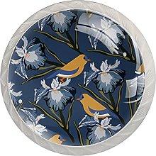 Bird Pattern Chinese Style 4PCS Round Shape