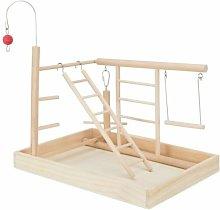 Bird Wooden Playground (34cm x 26cm x 25cm) -