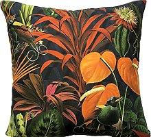 Birds Cushion Cover Floral Pillow Case Botanical