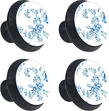 Birds On The Cherry Blossom 4PCS Cabinet Knobs,