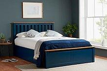 Birlea, 135cm Phoenix Ottoman Bed Navy Blue,