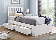 Birlea, 90cm Appleby Bed, White, Kids, Single