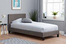 Birlea Berlin Bed, Fabric, Grey, Single