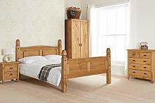 Birlea, Corona High End Bed, Pine, 135cm