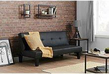 Birlea Franklin Faux Leather Sofa Bed Black