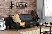 Birlea Franklin Sofa Bed - Faux Leather, Black