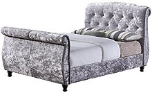 Birlea Furniture Toulouse Sleigh Bed, Crushed