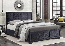 Birlea Hannover Bed Crushed Velvet - Black,