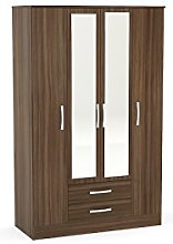 Birlea Lynx 4-Door 2-Drawer Wardrobe With Mirror -