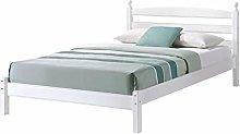Birlea Oslo Bed - Wood, White, Small Double