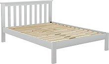 Birlea Suffolk Bed, Wood, Dove Grey, Double