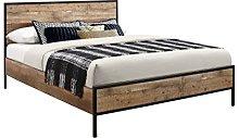 Birlea Urban Bed, Wood, Rustic, Double