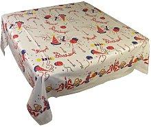Birthday 1950's Vintage Style Happy Tablecloth