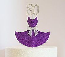Birthday Cake Decoration. Purple Dress with