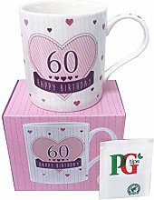 Birthday Mug 60th Gift for Women Her Coffee Boxed
