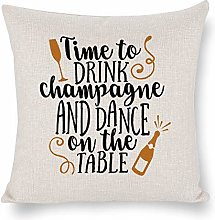 Birthday Quotes Throw Pillow Cover Time to Drink