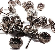 BIS POLISHED NICKEL DECORATIVE UPHOLSTERY PINS