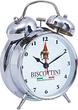 BISCOTTINI chrome-plated metal clock 10x10x15 cm