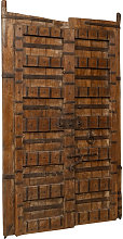 Biscottini - Solid wood and iron front door for