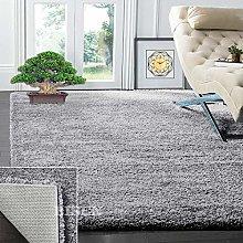 BISEN Silver Grey 120 x 170 cm Shaggy Rug Rugs
