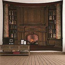 Bishilin Art Tapestry, Fireplace 3d Digital Wall