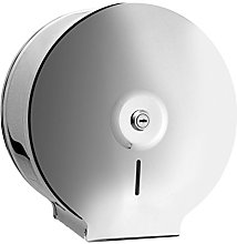 Bisk Jumbo Toilet Roll Dispenser, Stainless-Steel,
