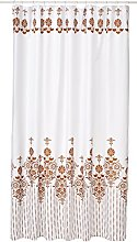 Bisk Shower Curtain Gold with Rings, 180 x 200 cm