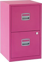 Bisley 2 Drawer Locking A4 Filing Cabinet Pfa2 -