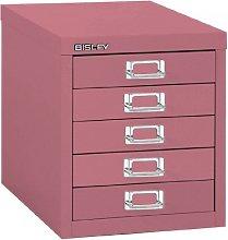 Bisley 5 Multidrawer Filing Cabinet H125nl - Pink