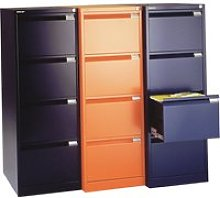 Bisley BS Filing Cabinet, Orange, Free Standard