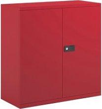 Bisley Economy Double Door Steel Cupboard, 1 Shelf