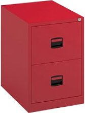 Bisley Economy Filing Cabinet (Central Handle), Red