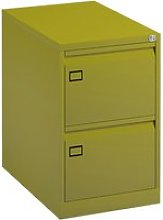 Bisley Economy Filing Cabinet (Swan Handle), Green