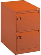 Bisley Economy Filing Cabinet (Swan Handle), Orange