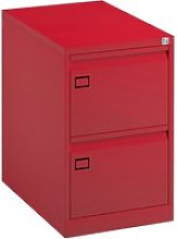 Bisley Economy Filing Cabinet (Swan Handle), Red
