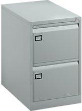 Bisley Economy Filing Cabinet (Swan Handle), Silver