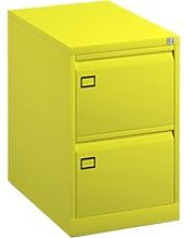 Bisley Economy Filing Cabinet (Swan Handle), Yellow