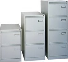 Bisley Executive PSF Filing Cabinet, Silver, Free