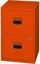 Bisley Metal Filing Cabinet 2 Drawer A4 - Color: